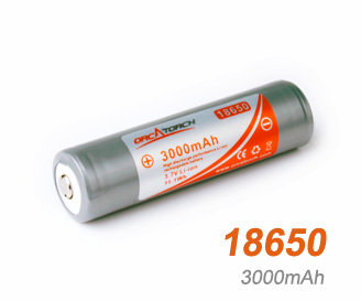 OrcaTorch li-ion Battery 18650 | 3000mAh