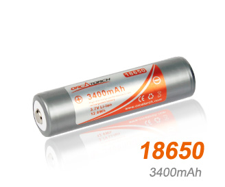 OrcaTorch li-ion Battery 18650 | 3400mAh