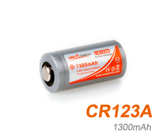OrcaTorch li-ion Battery CR123A | 1300mAh