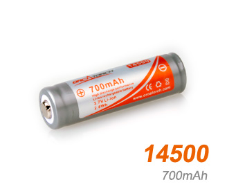 OrcaTorch li-ion Battery 14500 | 700mAh